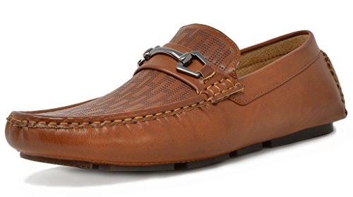 BRUNO MARC NEW YORK Men's PHILIPE-01 Tan Penny Loafers Moccasins Shoes - 11 M US