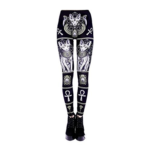 (SPHINX LEGGINGS - Sizes S - XXL / black, gothic, occult, alternative (Medium))