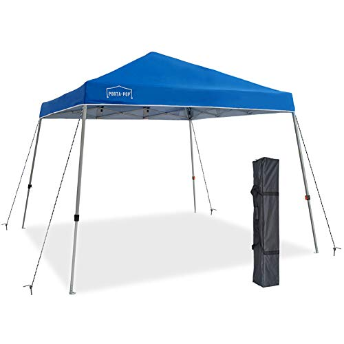 PORTA-POP One Button Pop Up Outdoor Portable Folding Canopy Slant Leg Instant Shelter with Carry ...