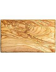Küchenmaster Ontbijtplankje van olijfhout | vierkant 25 x 15 cm, ca. 2 cm dik | ontbijtplank broodplank houten plank kaasplank hout | multifunctionele plank hygiënisch antibacterieel