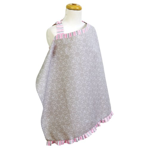 Trend Lab Lily Nursing Cover - Ruffle Circle Blanket Dot
