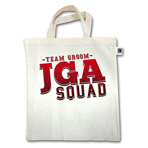 JGA Junggesellenabschied - JGA Squad Team Groom - Unisize - Natural - XT500 - Jutebeutel kurzer Henkel lX9KLwrDf