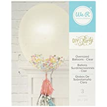 We R Memory Keepers 3 Piece DIY Party Clear Balloons, 36""