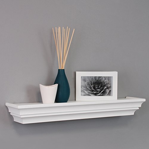 kiera grace madison contoured wall ledge shelf 24 inch white - Decorative Shelf