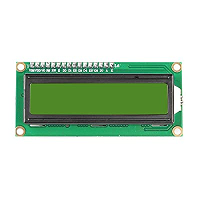SainSmart TTL Serial Enabled 16X2 LCD, 5V, Yellow Backlit Screen