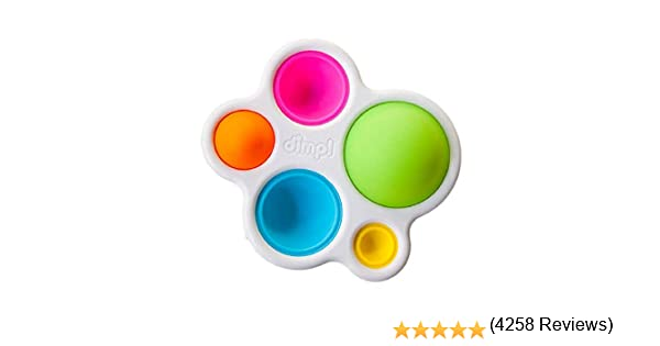 Amazon.es: Fat Brain Toys- Hoyuelos Silicona Dimpl, Color carbón (1)