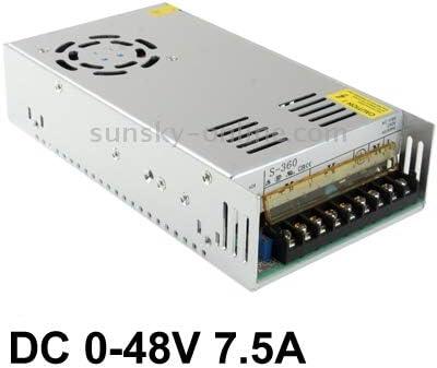 Li's Fuente de alimentación conmutada Fuente de alimentación conmutada regulada S-400-48 DC0-48V 7.5A (100~240V) (Color : Color4) Color1 hZL9N9vh