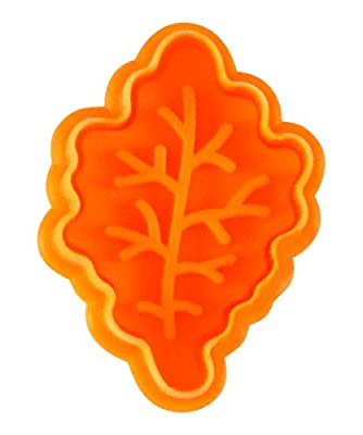 "R&M International 0499 Leaves 2"" Pastry/Cookie/Fondant Stampers, Leaves and Acorn, 4-Piece Set"