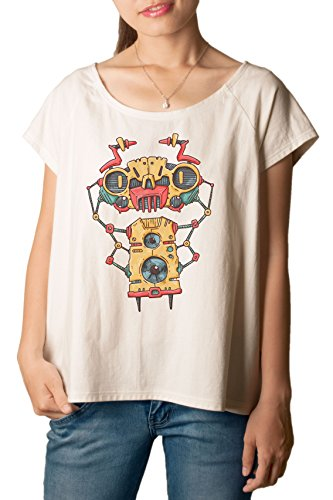 Robot Bug Printed 100% Cotton Fashion Plus Size T-shirt Tee WTS_01 2XL (Fashion Bug Plus Size)