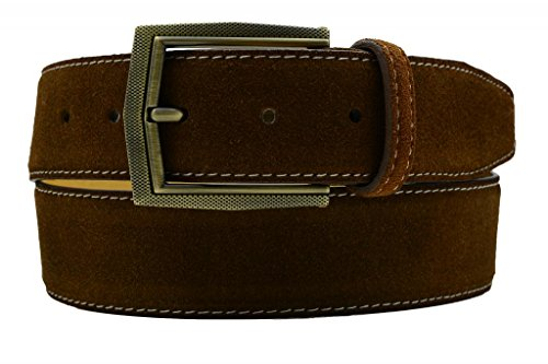Marco Valentino Brown Suede Men's Dressy Belt with a Vintage Style Buckle Size 32
