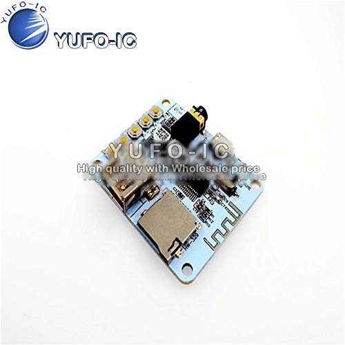 SAUJNN Amplifier Bluetooth Board Audio with USB TF Card Audio decoding Playback Preamp Output Electret Microphone