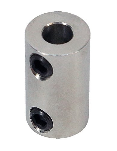 1/8 inch to 5mm Stainless Steel Set Screw Shaft Coupler ServoCity 625162