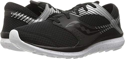 Shoes Silver Reflex - Saucony Men's Kineta Relay Reflex Running Shoe, Black/Silver, 9 M US