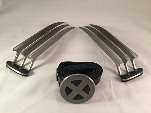 Blunt Costumes (WOLVERINE X-Men Claws Blunt Dull for Costume Cosplay w/ X-men Belt Logo NEW! Ships from USA!!!)
