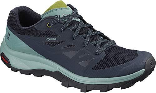 Salomon Outline GTX Hiking Shoes - Women's Trellis/Navy Blazer/Guacamole 8