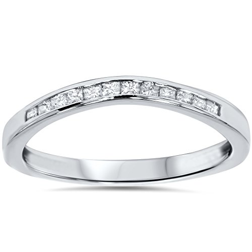 1/4ct Princess Cut Diamond Curved Guard Wedding Ring Enhancer (Ring Diamond Guard Princess Cut)