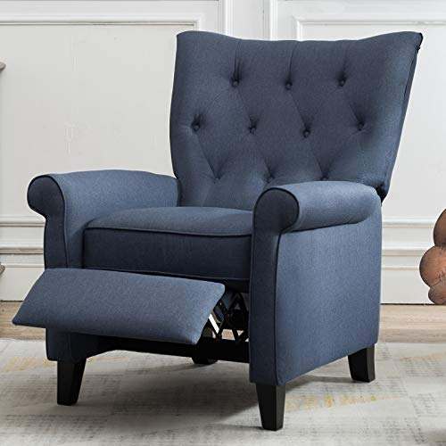 Roll Arm Wingback Chair - 4