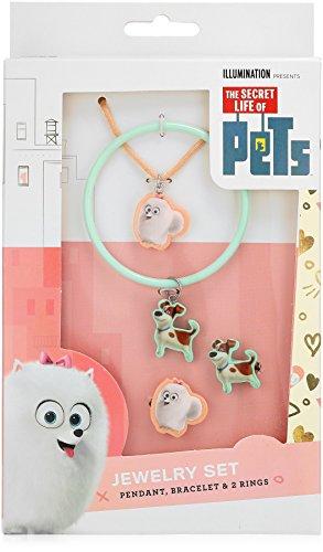 Price comparison product image Secret Life of Pets 4 Piece Cutout Gidget Pendant Max Bangle and 2 Rings Charm Bracelet