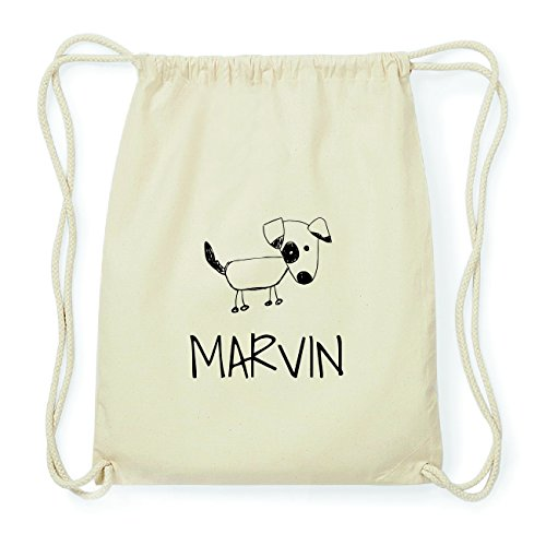 JOllipets MARVIN Hipster Turnbeutel Tasche Rucksack aus Baumwolle Design: Hund