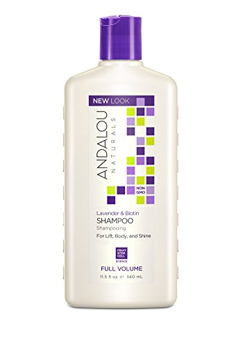 Andalou Naturals Lavender & Biotin Full Volume Shampoo, 11.5 Fluid Ounce