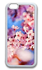 MOKSHOP Adorable cherry blossom hd Soft Case Protective Shell Cell Phone Cover For Apple Iphone 6 Plus (5.5 Inch) - TPU White