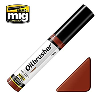Ammo of Mig Oilbrusher Rust - Oil Paint with Fine Brush Applicator #3510: Toys & Games
