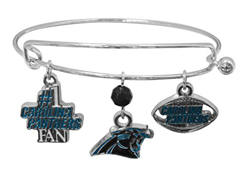 NFL Carolina Panthers Three Charm Logo Bracelet ()