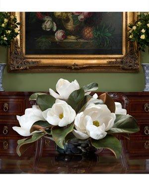 Magnolia Centerpiece (Magnolia Silk Floral Centerpiece)