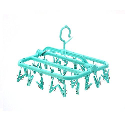 KK5 Laundry Drying Hanger - Foldable Clip Drip Hanger 26 Cli