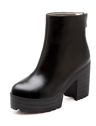 Botas Y Brown Zapatos Cn40 Semicuero Cn36 Eu39 Redonda Punta us6 Brown Vestido Eu36 us8 Uk6 Casual Mujer De Tacón 5 Uk6 Uk4 Cerrada Trabajo Robusto Oficina 5 negro Xzz aq8vwdv