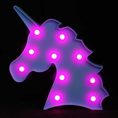 OYE HOYE Unicorn Night Light, Blue Unicorn LED Lamp Unicorn Marquee for Wall Decoration Bedroom Kids Living Room Battery Operated by OYE HOYE