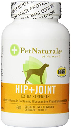 Pet Natural Hip And Joint- Extra Strength for dogs 60-count (Pet Naturals Extra Strength compare prices)