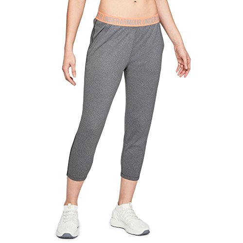 Under Armour Women's Play Up Capris, Charcoal Light Heath (019)/Metallic Silver, X-Small by Under Armour (Image #1)