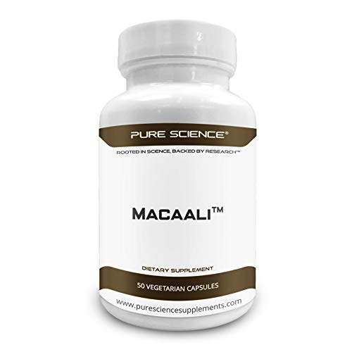 (Pure Science Macaali - Maca with Tongkat Ali Extract  - Natural Enhancement Formula combining Maca Root Powder and Eurycoma Longifolia (Longjack) 700mg - 50 Vegetarian Capsules)