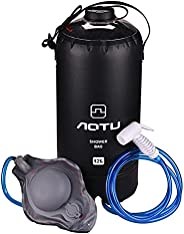 Outdoor Portable Camping Shower Bag, 12L Camping Bath Bag with Removable Hose & On-Off Switchable Shower H