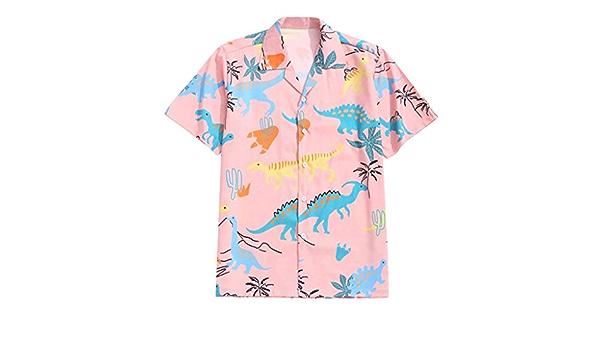 Camisa hawaiana para hombre, de manga corta, con botón ...