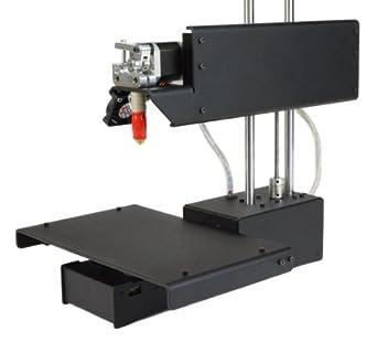 "Printrbot Assembled Metal Simple 3D Printer, Black, PLA Filament, 1.75mm Ubis Hot End, 6"" x 6"" x 6"" Build Volume"