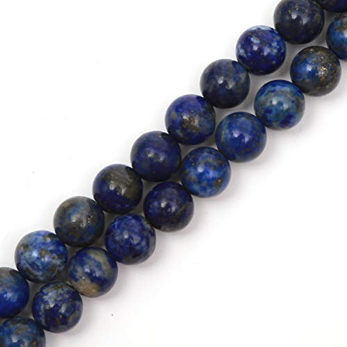 - Genuine Natural Stone Beads Lapis Lazuli Round Loose Gemstone 8mm 1 Strand 15.5