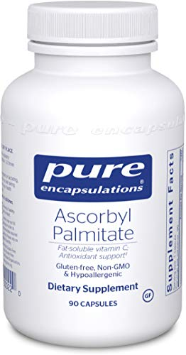 Pure Encapsulations – Ascorbyl Palmitate – Hypoallergenic Fat-Soluble Vitamin C Supplement – 90 Capsules