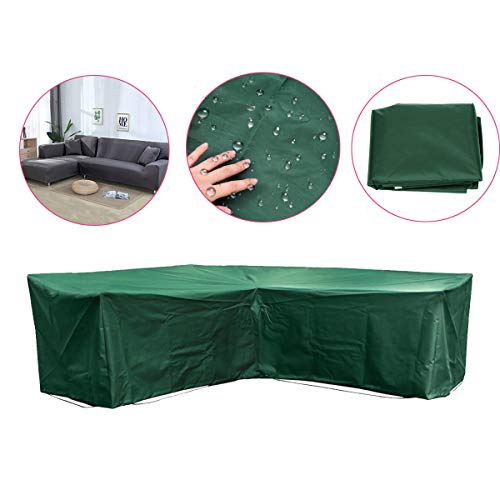 84''x84''x31'' Green Outdoor L Shape Sofa Furniture Cover  Furniture Outdoor Outside Cover Protection Canopy Awning Cloth Shade Sun Patio Garden Table Chair by Generic