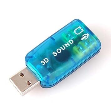 Neewer 2 x USB Externa Tarjeta de Sonido 3D 5.1 Adaptador de ...