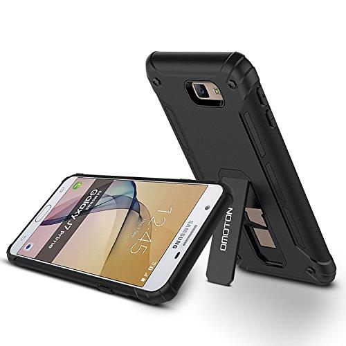 2016 Galaxy J7 Prime Case, OMOTON J7 Prime Case black with [Versatile Kickstand] [Anti-Slip] for Samsung Galaxy J7 Prime/Galaxy J7 Prime 2 /Galaxy On7 (2016 Released), NOT fit Galaxy J7 Prime [2017]