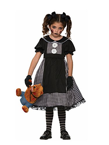 Forum Novelties Kids Dark Rag Doll Costume
