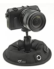 """OctoPad Universal Base Stand and Table Mini Tripod, for Travel, Mirrorless, Action 360 Camera, Cell Phone, Smartphone, LED Light, Flash Unit, Selfie Stick and Microphone, with All-Purpose 1/4"""" Thread"""