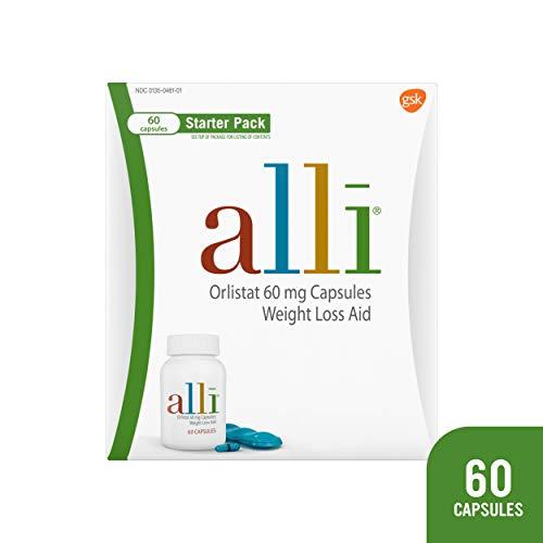 alli Diet Weight Loss Supplement Pills Starter Pack, 60 Count