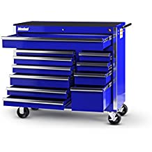 International VRB-4211BU 42-Inch 11 Drawer Blue Tool Cabinet with Heavy Duty Ball Bearing Drawer Slides
