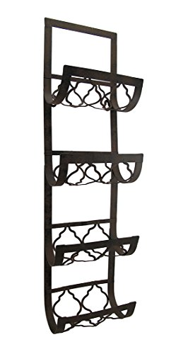 - Deco 79 Metal Wall Wine Rack, 28 by 8-Inch
