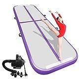 Airacker Air Track, Tumbling Mat, Inflatable Gymnastics Airtrack Mat, Air Floor Mat with Electric Air Pump for Training/Cheerleading