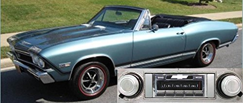 Custom Autosound Stereo Compatible with 1968 Chevelle Malibu El Camino, USA-630 II High Power 300 watt AM FM Car Stereo/Radio with Auxiliary Input