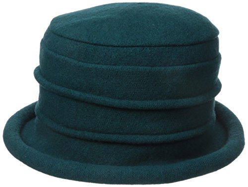 Scala Women's Boiled Wool Cloche, Teal, One Size -